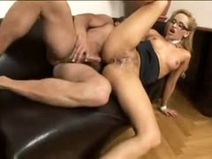 Hot secretary screwed in his office