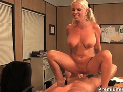 Office fuck with big boobed blonde Tatum Pierce