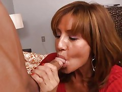 Honey Tara Holiday rams a hard dong down her mouth
