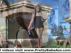 Kristin girls busty babe flashing tits