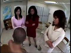 3 Teachers Raping Fellow Rubbing His Face With Love bubbles Getting Love tunnel Licked In The Classroom