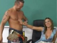 Construction Worker Finds Hot Teacher Devon Lee At Her Desk And Makes Her Engulf His Shlong In advance of This chab Fucks Her Cunt Right There In The Classroom Older Boobs Cumshot