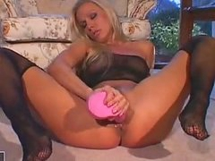 Nympho Honey Vega Vixen Stuffing A Rubwager Dongie In This Chabr Soaked Snatch