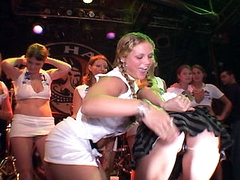 Lots of stripped Spring Break beaver action. Mad gals going at it on stage with no inhibitions. Large milk cans little milk cans slim and tall. U name it we have it all!
