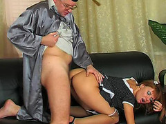 Hawt coed going to the professor to take supplementary fucking and sucking lessons