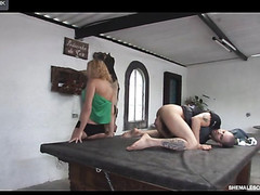 Sexually excited lady-boy trying for the first time the thrills of anal sex with a guy