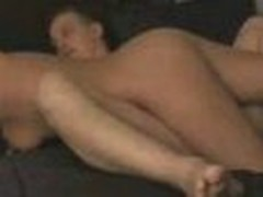 This is an amazing clip of a wife pleasing her husband. It begins of with the lady playing with his dick and balls while this guy lays back and enjoys. She then receives on top of him and rides him slow and smooth in different ways until this guy cums inside her.