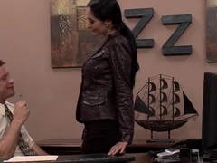Ava is every male boss' dream. That Babe sends faxes, is a whiz at multitasking and is just dying to suck your rod at the drop of the hat. In this day's episode, this chick lets u in on her sexually excited morning routine and lastly has her dreams come true when this chick lets her boss, Mr. Bailey, relieve his stress by fucking her large bra buddies and tight snatch.