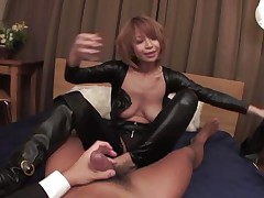 Welcome home honey! Before we go to bed, why don't I show u my recent leather body suit? And while we're at it, why don't u smack my constricted butt hole and I'll ride your angry rod while u you play with my enormous jugs at the same time? We'll reach heaven before we call it a night, my dear hubby!