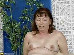 This older woman was looking for a swim, but a more excellent exercise to loosen u up is riding a cock, which is exactly what she's doing. She slides down every inch of her man's dick, loving the feeling of being fucked. She receives off to ride him normally, and this guy thrusts up hard and fast in her hirsute cunt.
