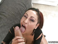 Priya Rai is busty babe. Look at her hot round boobs and hard nipples. This floozy knows how to suck a dick. Here she is showing her huge boobs and wet pussy to her man to make his 10-Pounder hard. Then she is sucking her man's 10-Pounder to give him a mouthful oral-service with nice up and down hand job.