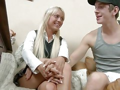 Ivana at no time says no to a precious fuck and when this chap begins making her lustful and takes off her clothing that babe instantly turns from a well behaved hotty into a dirty slut. See her as the chap removes her white pants and discloses us that sexy wazoo and hot vagina between her long sexy legs. He enjoys licking that pussy, do u think he will inserts his penis in it?
