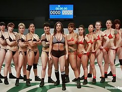 A lot of sluts and every of one wants to win! Well, it will be a very lengthy and hard match but it worth seeing it. These sluts are sexy and merciless, soon the game starts and things receive intense. Should we start betting one who will win and what the losers will have to receive through?