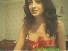 Cam: (no sound) College lovely girl on webcam for her bf
