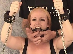 Take a look at this blond slut Tori as that babe is shackled to the...