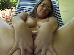 Get willing to be entertained by this luscious brunette angel as she...