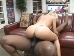 Lustful bimbo takes boner in the basement