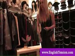 Headmistress shows her tailored made boots collection