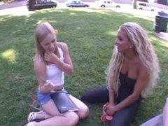 Pair brings home a cute teenage girl